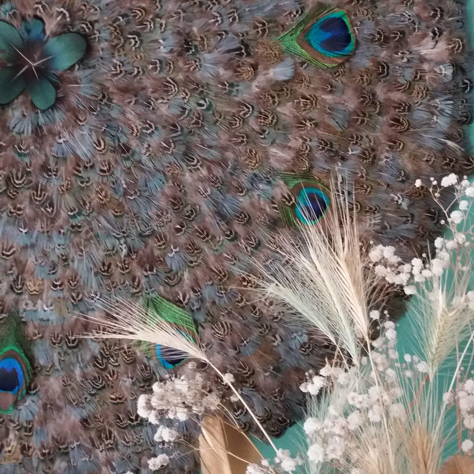 Sur-mesure - My juju Hat - Plumes des bois paon 70 cm