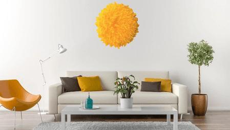 Inspiration - My Juju Hat - salon canapé juju hat bohème jaune